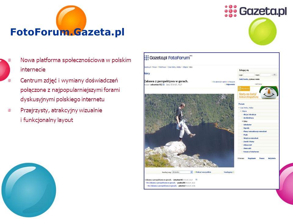 FotoForum.Gazeta.plNowa platforma społecznościowa w polskim internecie.