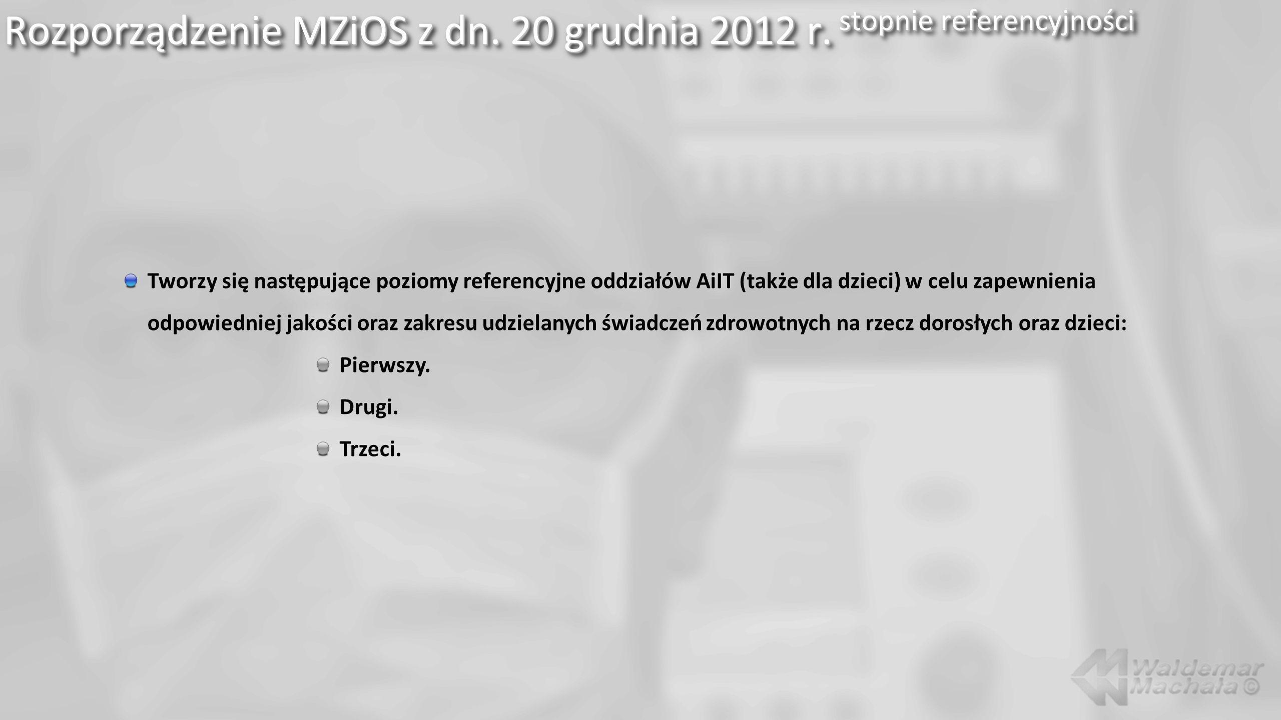 Rozporządzenie MZiOS z dn. 20 grudnia 2012 r. stopnie referencyjności