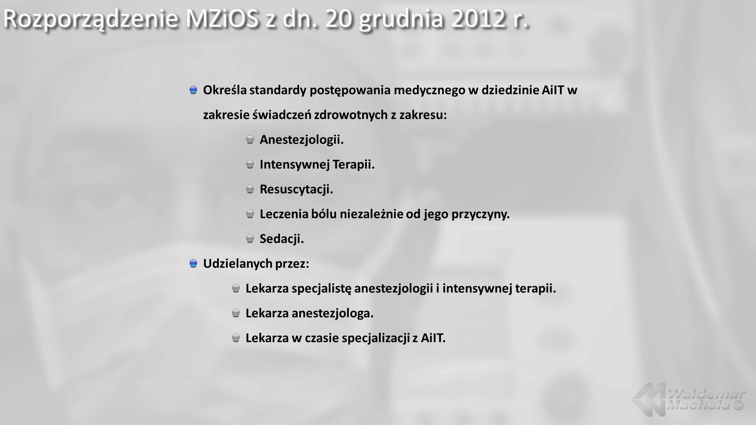Rozporządzenie MZiOS z dn. 20 grudnia 2012 r.