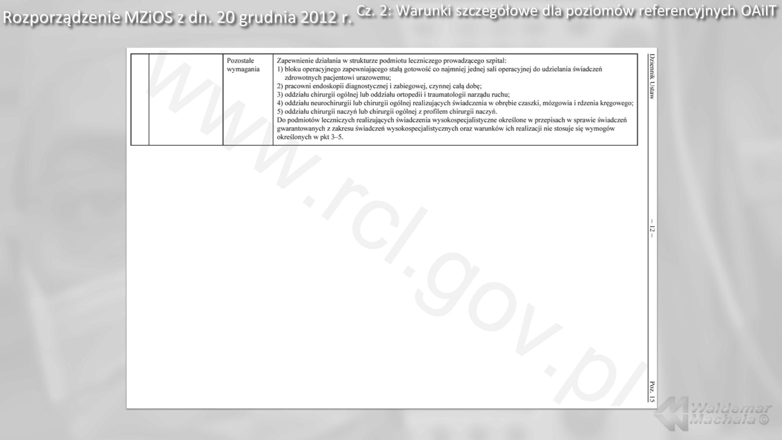 Rozporządzenie MZiOS z dn. 20 grudnia 2012 r. Cz