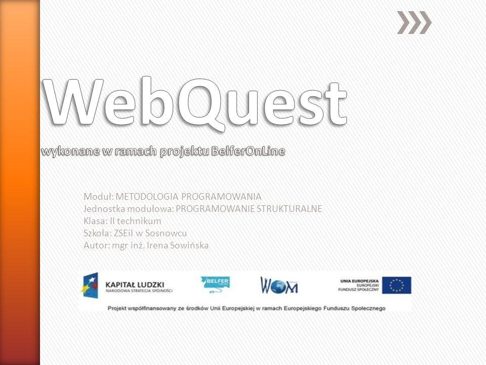 WebQuest wykonane w ramach projektu BelferOnLine