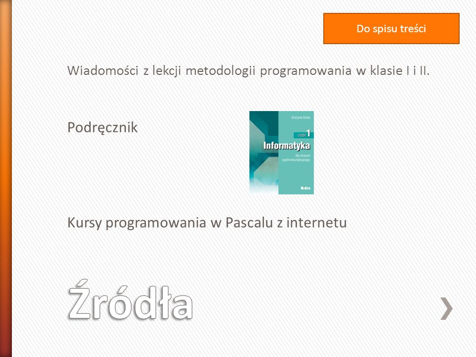Źródła Podręcznik Kursy programowania w Pascalu z internetu