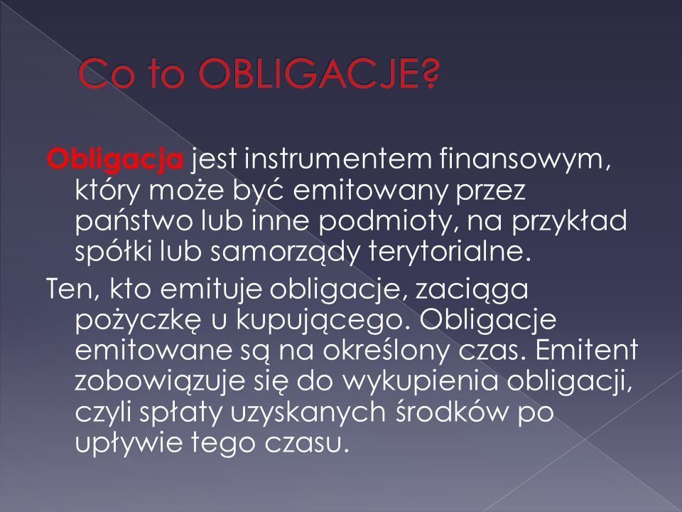 Co to OBLIGACJE