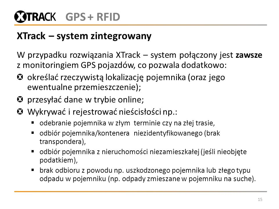 XTrack – system zintegrowany
