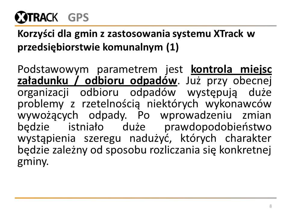 GPS Korzyści dla gmin z zastosowania systemu XTrack w przedsiębiorstwie komunalnym (1)