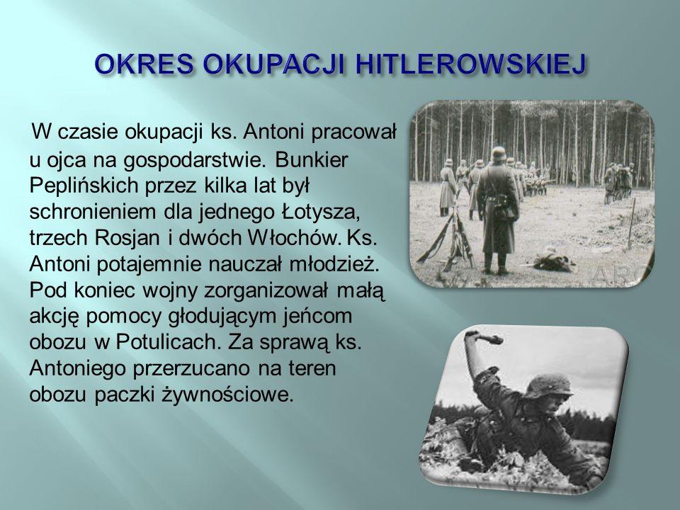 OKRES OKUPACJI HITLEROWSKIEJ