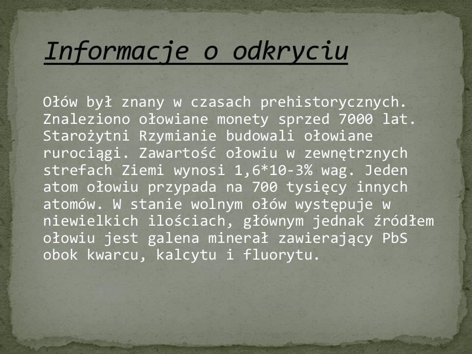 Informacje o odkryciu