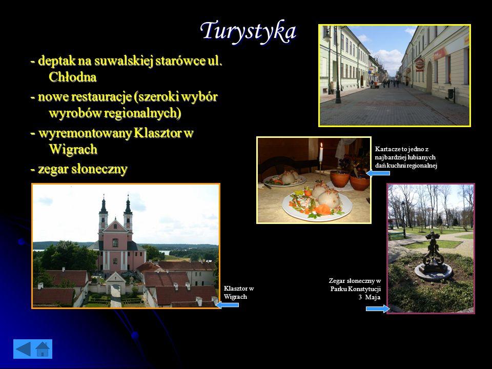 Turystyka - deptak na suwalskiej starówce ul. Chłodna