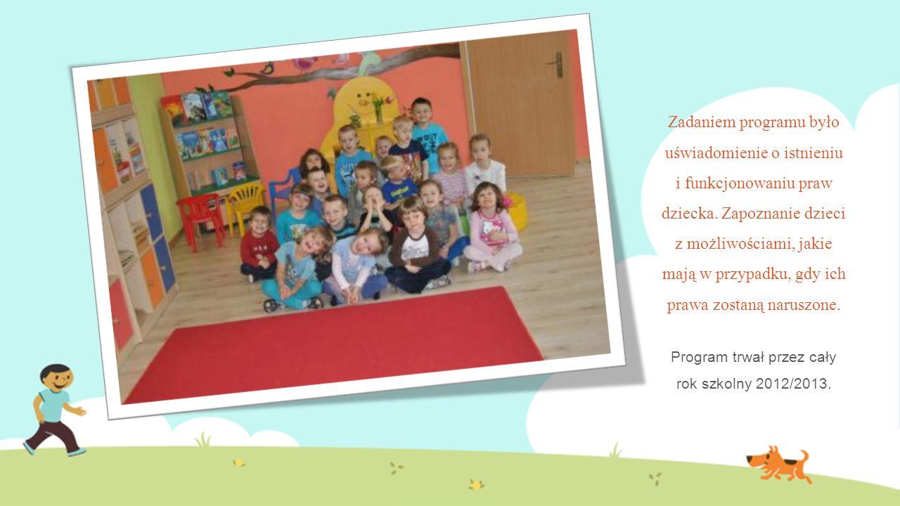 Program trwał przez cały rok szkolny 2012/2013.