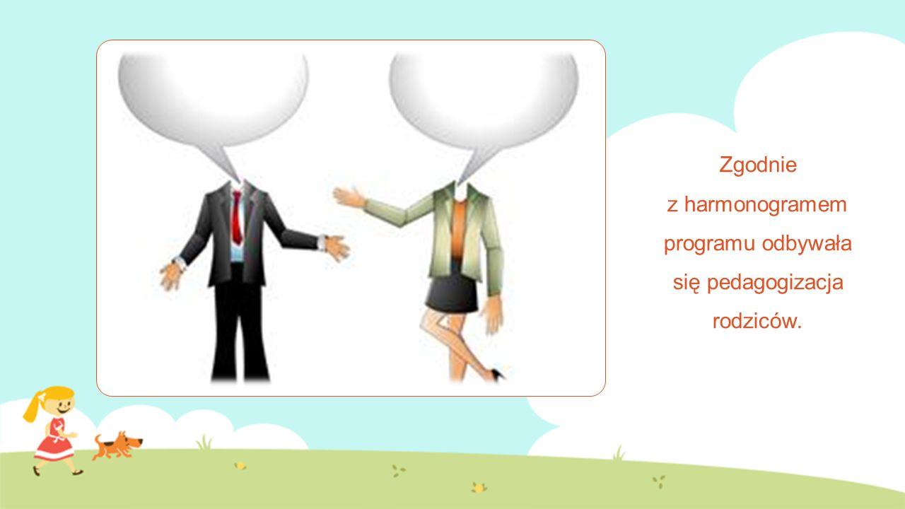 Zgodnie z harmonogramem programu odbywała się pedagogizacja rodziców.
