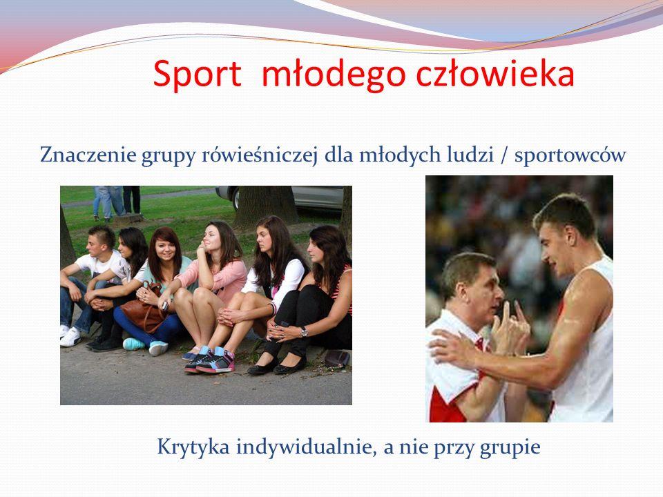 Sport młodego człowieka