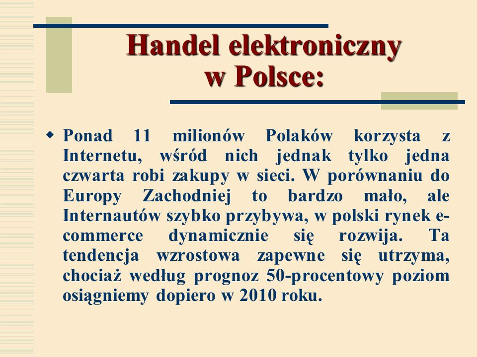 Handel elektroniczny w Polsce: