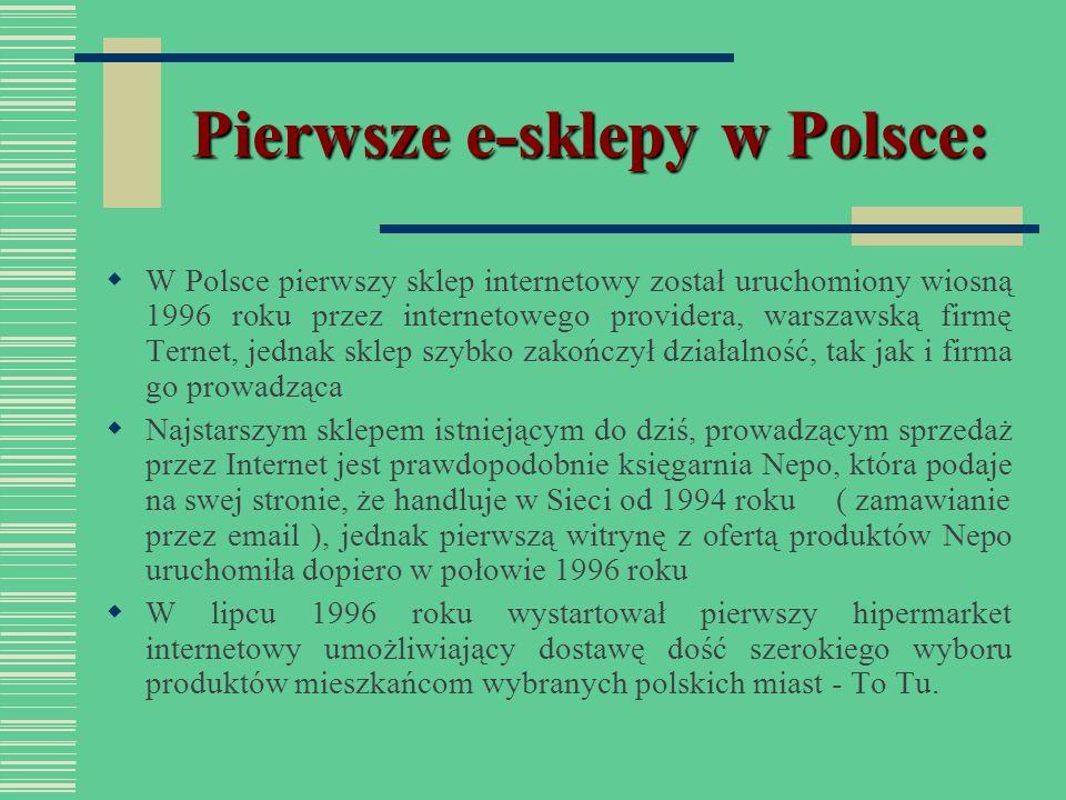 Pierwsze e-sklepy w Polsce: