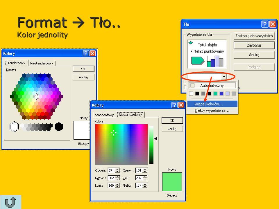 Format  Tło.. Kolor jednolity