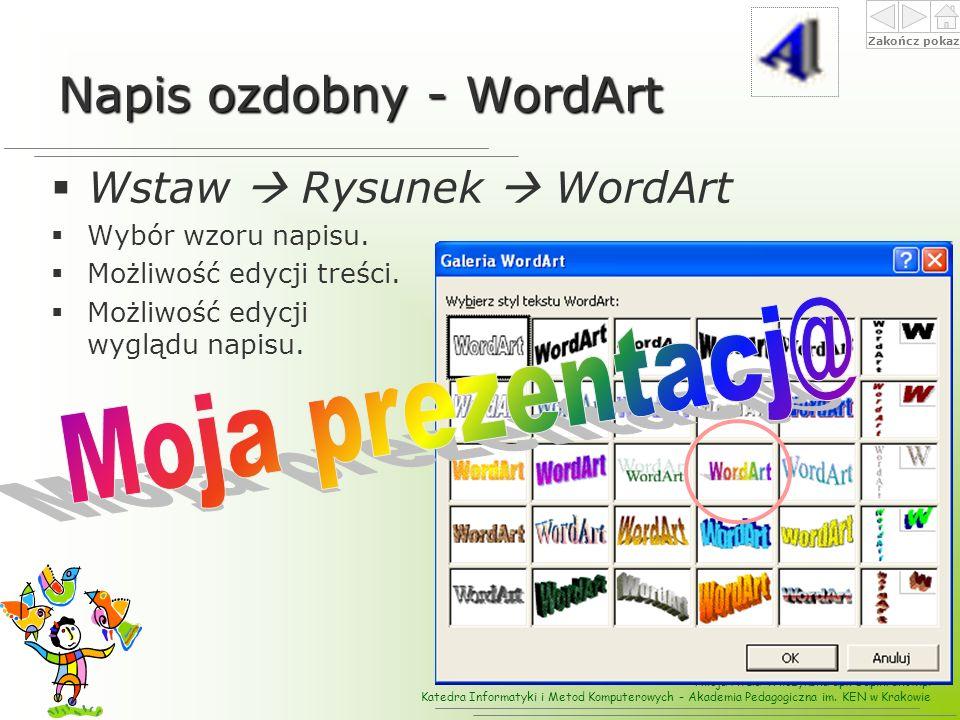 Napis ozdobny - WordArt