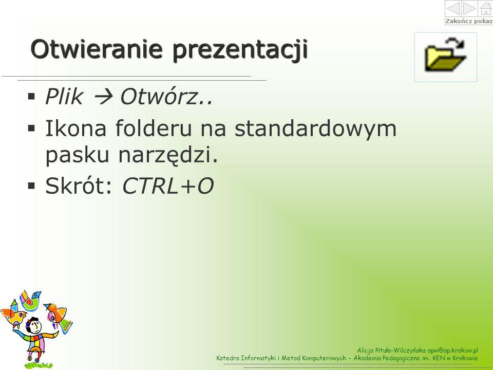Otwieranie prezentacji