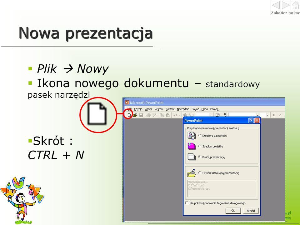 Nowa prezentacja Plik  Nowy