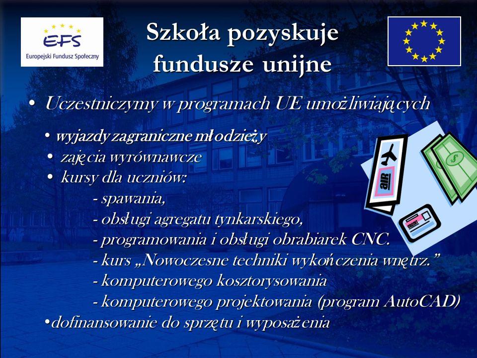 Szkoła pozyskuje fundusze unijne