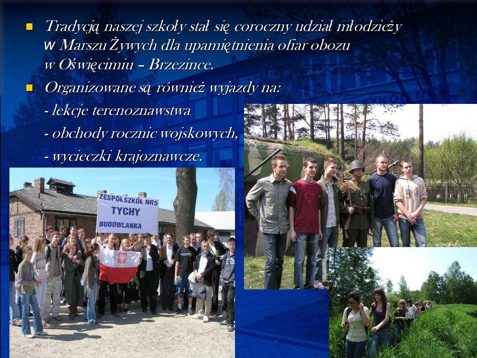 Tradycją naszej szkoły stał się coroczny udział młodzieży w Marszu Żywych dla upamiętnienia ofiar obozu w Oświęcimiu – Brzezince.