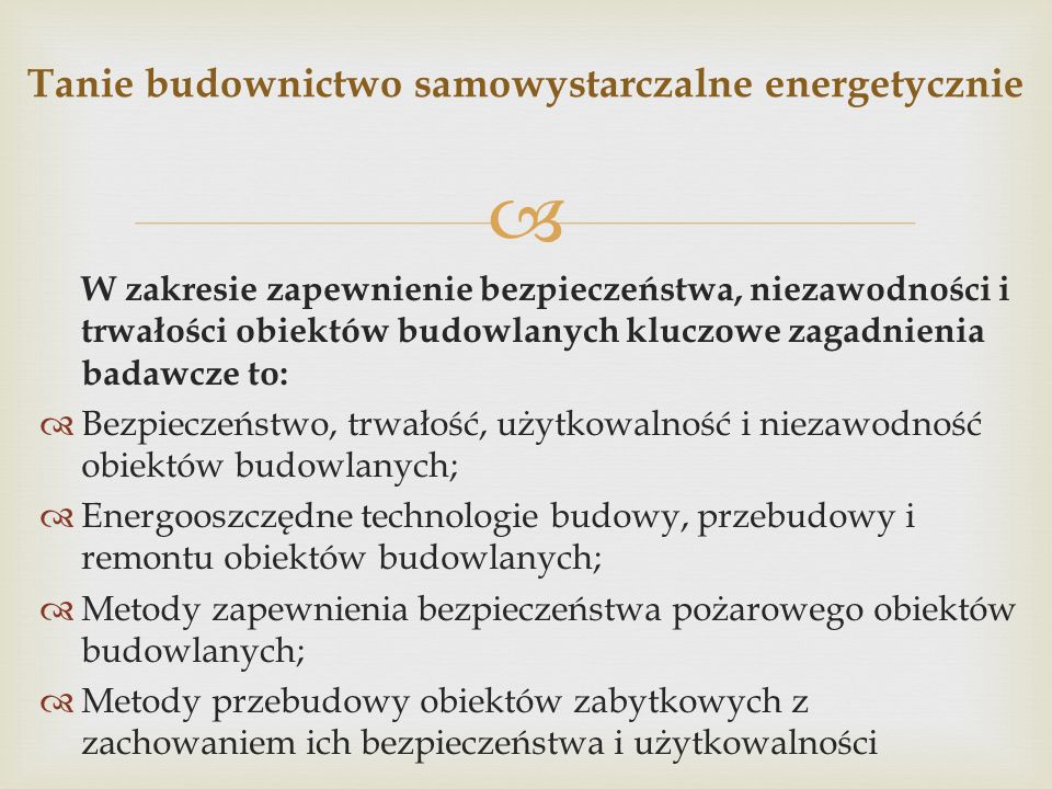 Tanie budownictwo samowystarczalne energetycznie