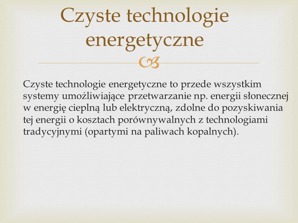 Czyste technologie energetyczne
