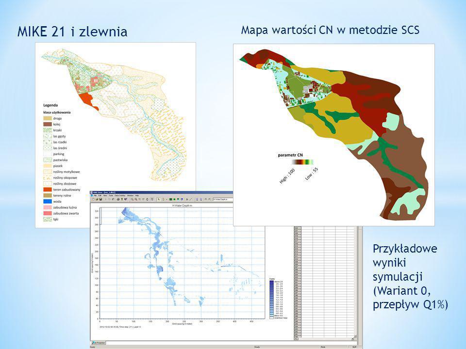 MIKE 21 i zlewnia Mapa wartości CN w metodzie SCS