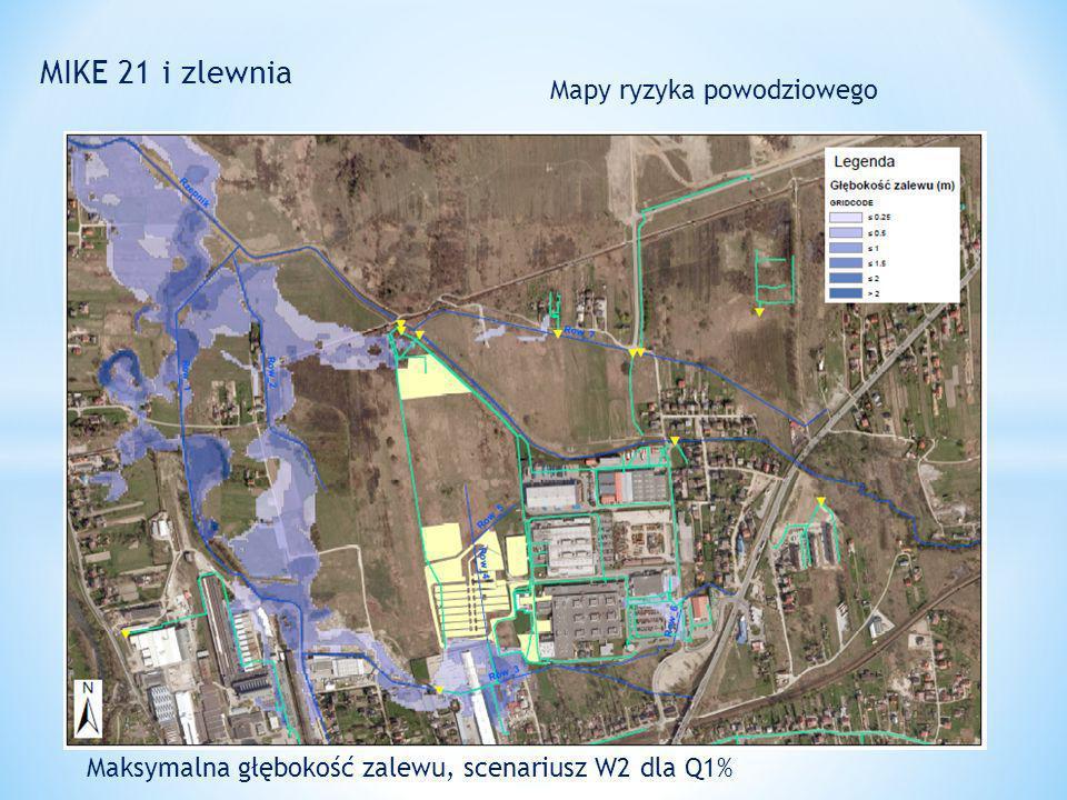 MIKE 21 i zlewnia Mapy ryzyka powodziowego