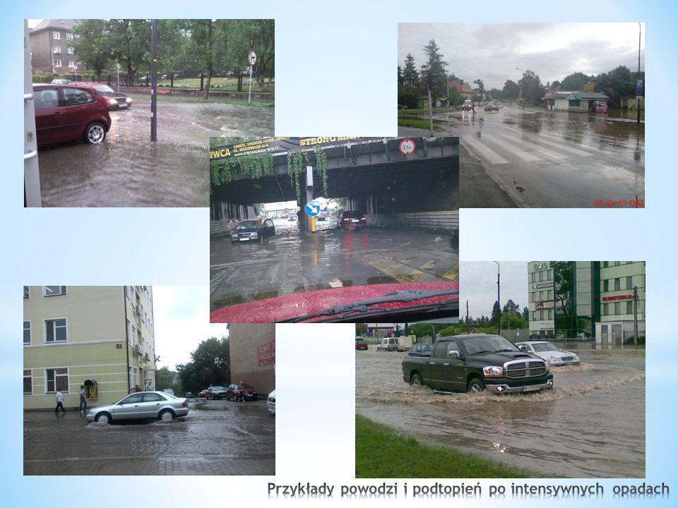 Przykłady powodzi i podtopień po intensywnych opadach