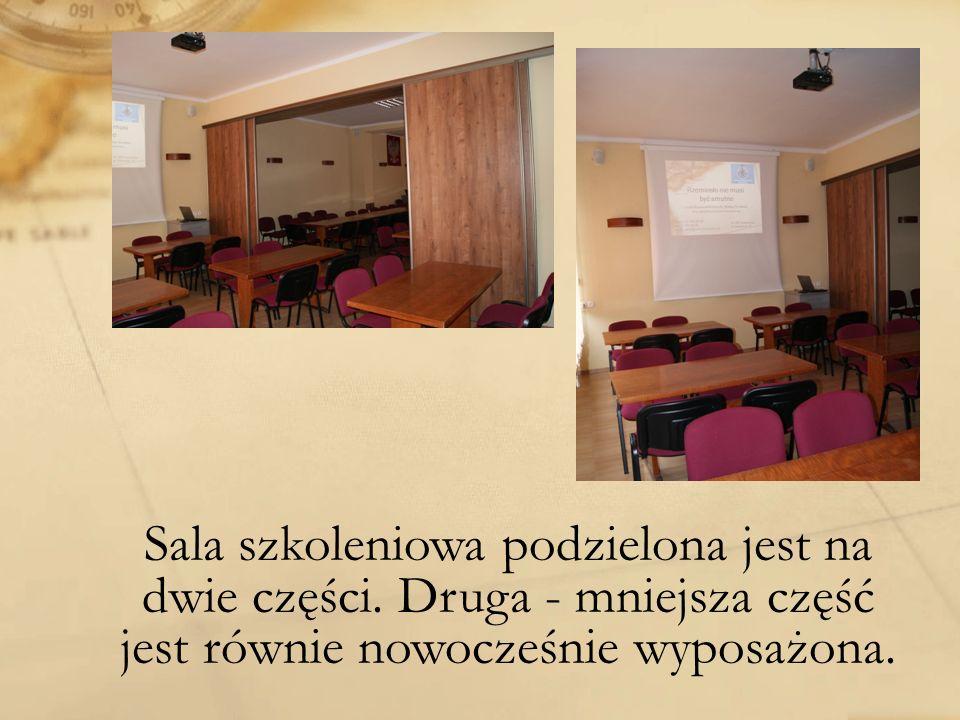 Sala szkoleniowa podzielona jest na dwie części