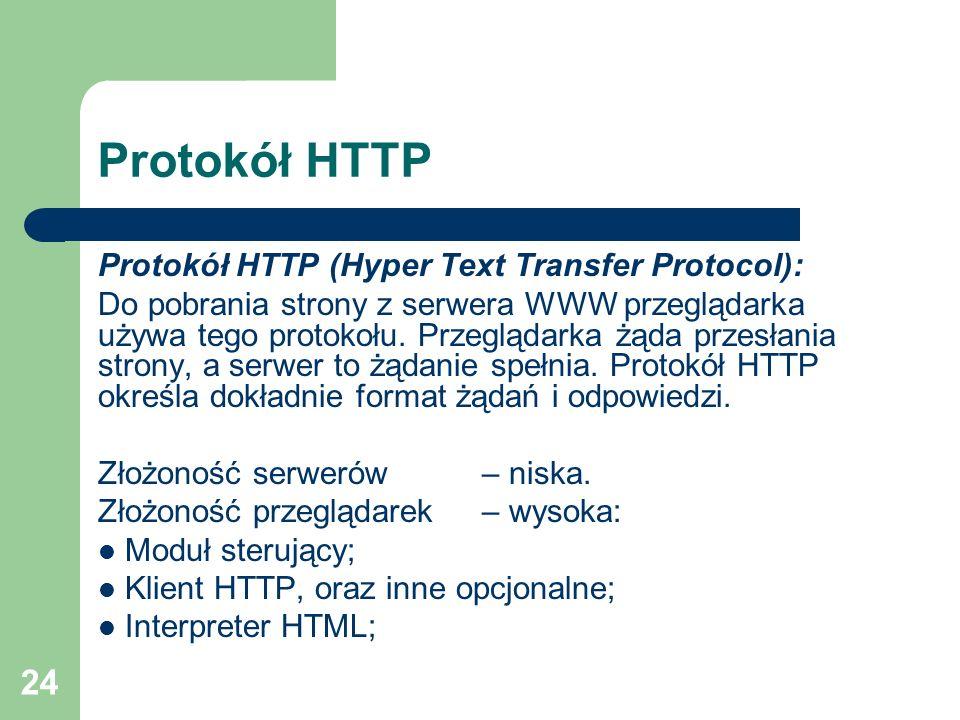Protokół HTTP Protokół HTTP (Hyper Text Transfer Protocol):