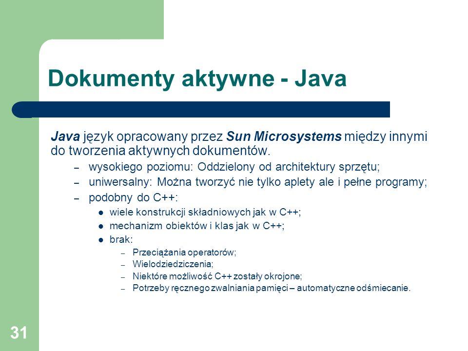 Dokumenty aktywne - Java