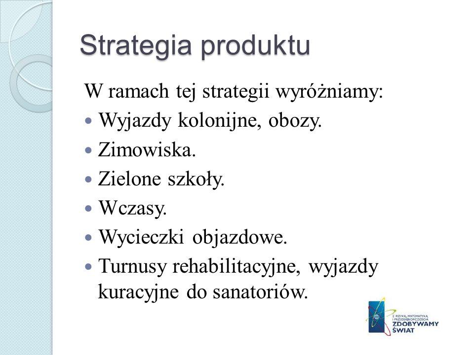 Strategia produktu W ramach tej strategii wyróżniamy: