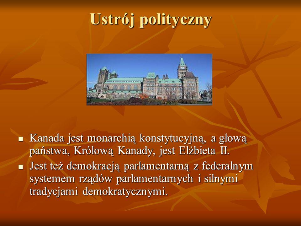Ustrój polityczny Kanada jest monarchią konstytucyjną, a głową państwa, Królową Kanady, jest Elżbieta II.
