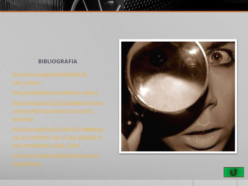 bibliografia http://www.sciaga.pl/tekst/44466-45- ropa_naftowa