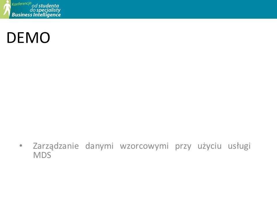 DEMO Zarządzanie danymi wzorcowymi przy użyciu usługi MDS
