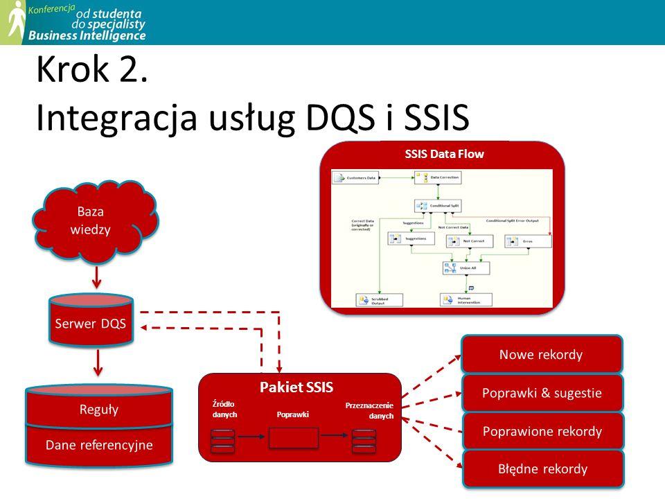 Krok 2. Integracja usług DQS i SSIS