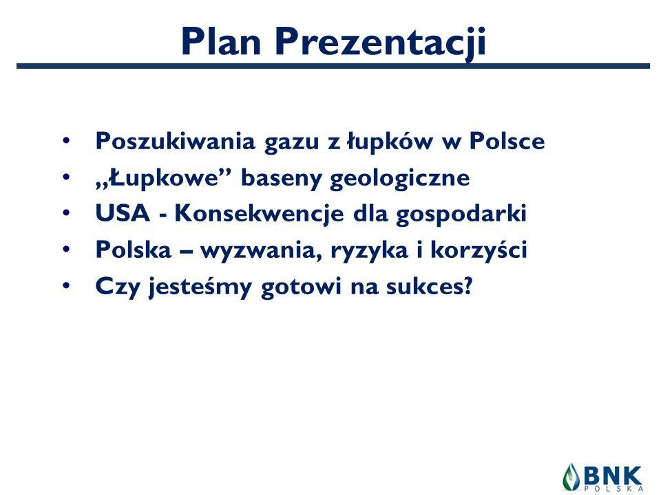 Plan Prezentacji Poszukiwania gazu z łupków w Polsce