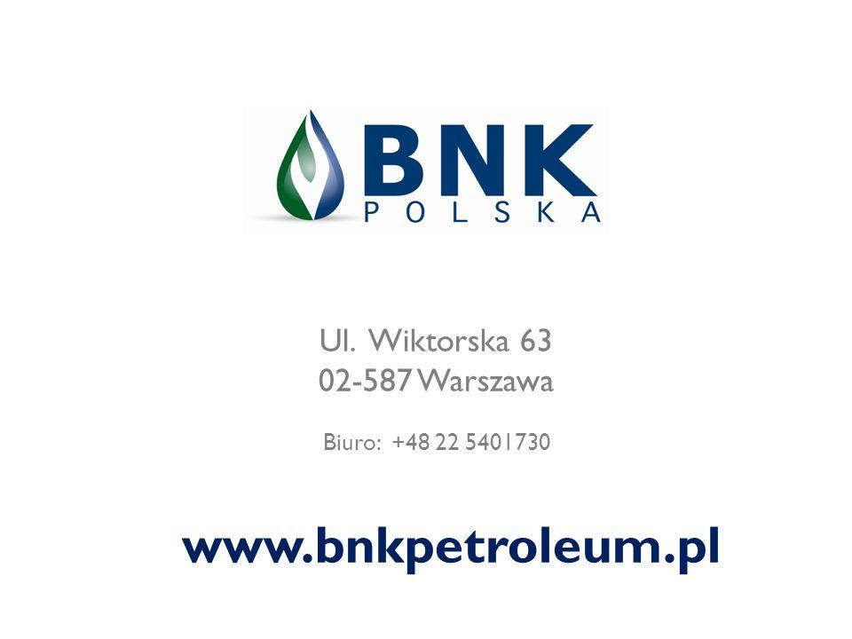 www.bnkpetroleum.pl Ul. Wiktorska 63 02-587 Warszawa
