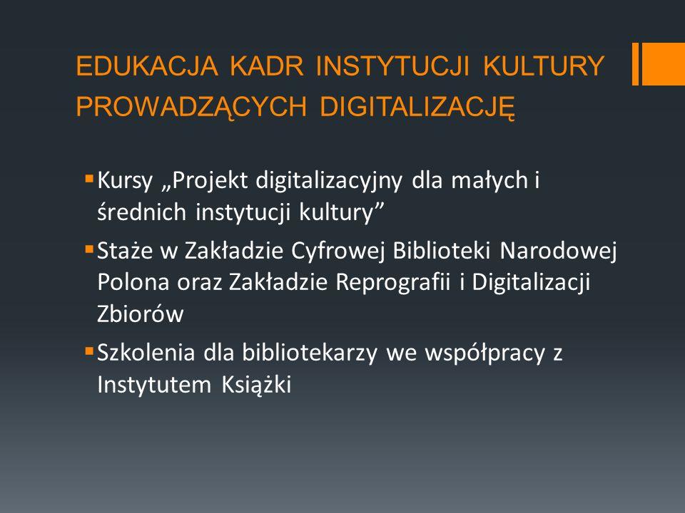edukacja kadr instytucji kultury prowadzących digitalizację