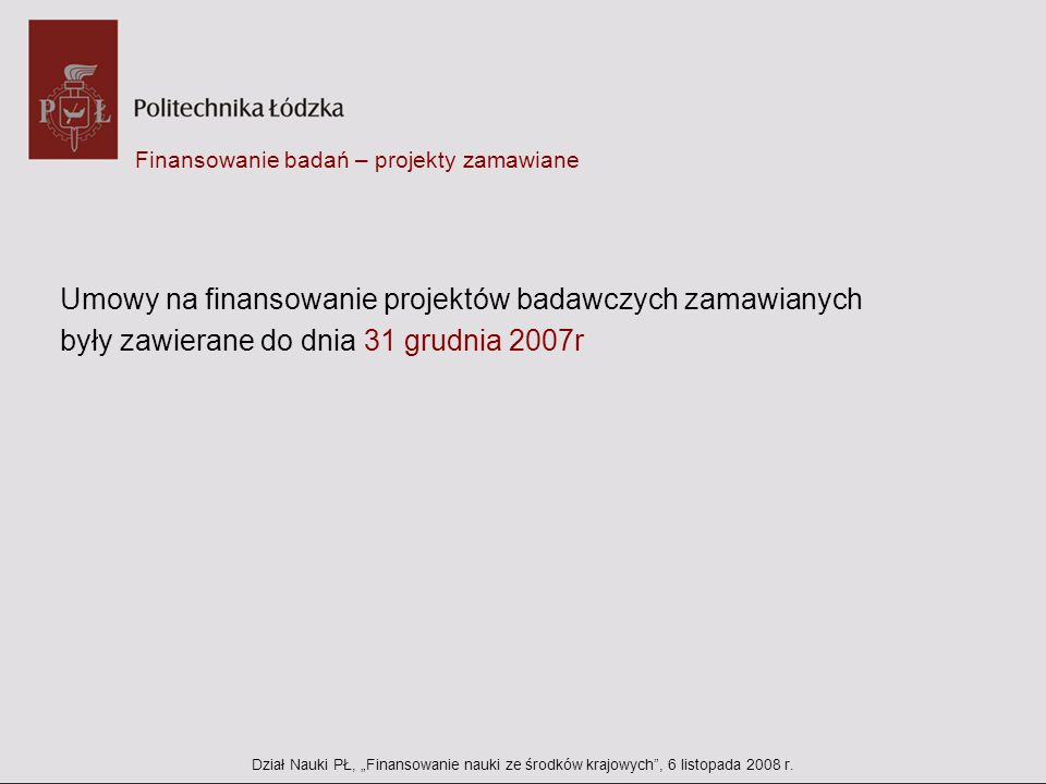 Finansowanie badań – projekty zamawiane