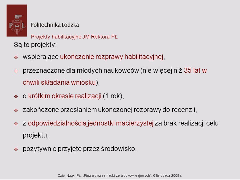 Projekty habilitacyjne JM Rektora PŁ