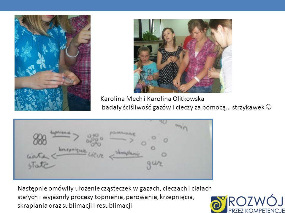 Karolina Mech i Karolina Olitkowska badały ściśliwość gazów i cieczy za pomocą… strzykawek 