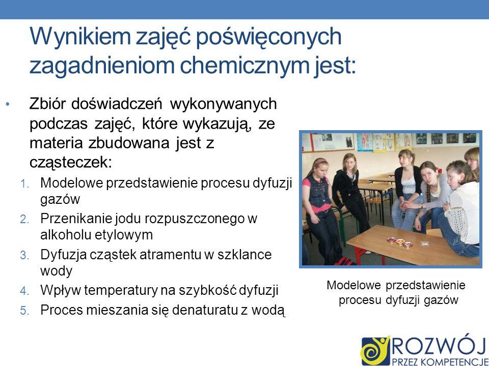 Wynikiem zajęć poświęconych zagadnieniom chemicznym jest: