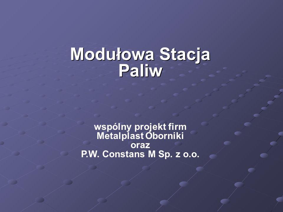 Modułowa Stacja Paliw wspólny projekt firm Metalplast Oborniki oraz