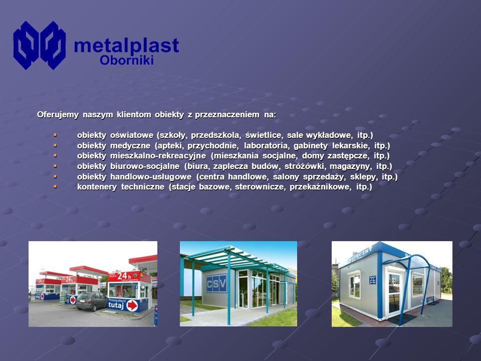 Oferujemy naszym klientom obiekty z przeznaczeniem na:
