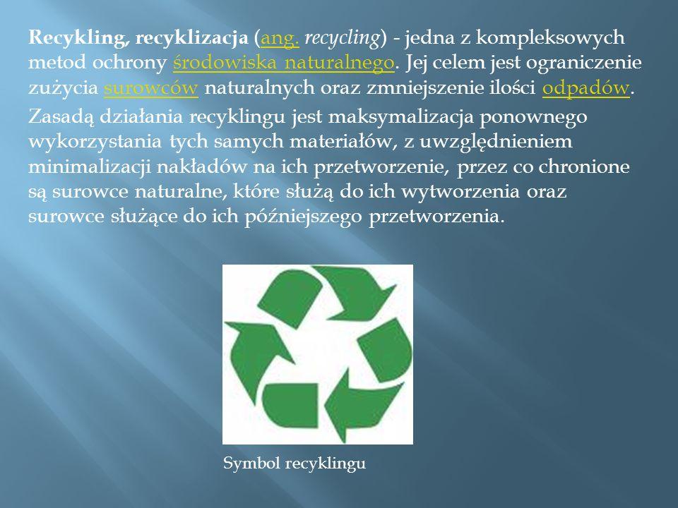 Recykling, recyklizacja (ang