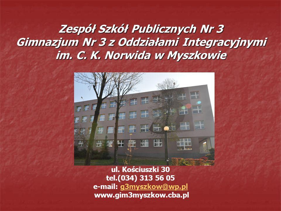 ul. Kościuszki 30 tel.(034) 313 56 05 e-mail: g3myszkow@wp.pl