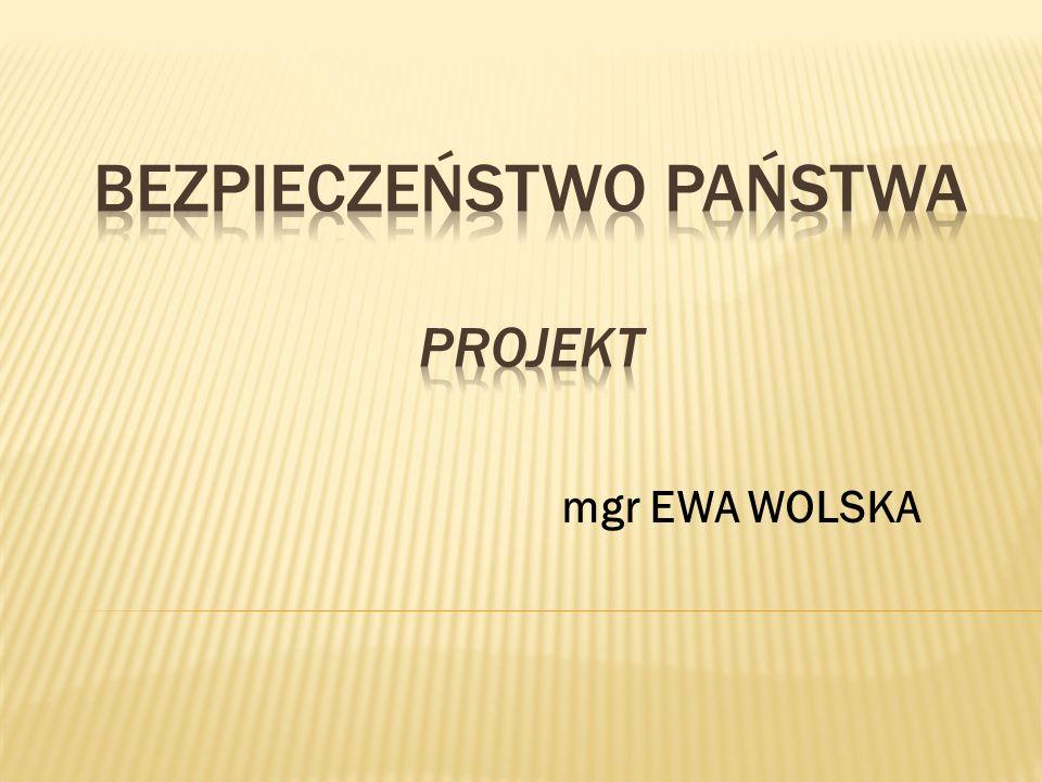 BEZPIECZEŃSTWO PAŃSTWA projekt