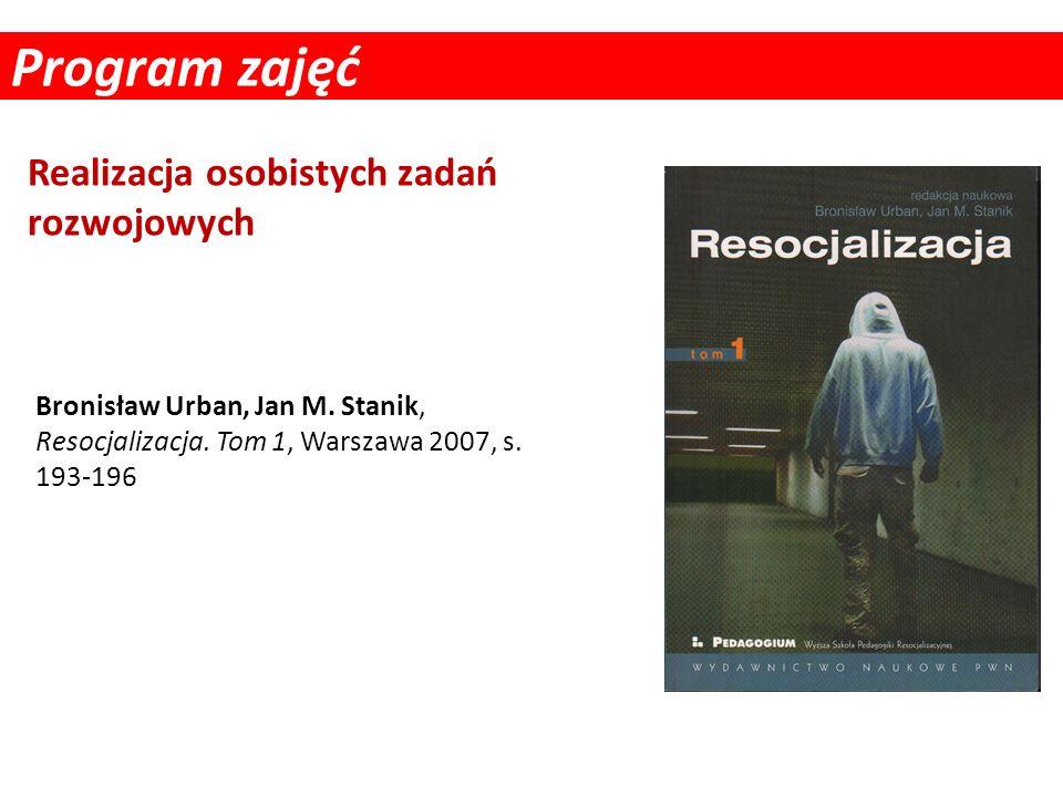 Program zajęć Realizacja osobistych zadań rozwojowych