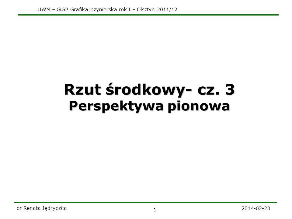 Rzut środkowy- cz. 3 Perspektywa pionowa